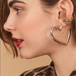 NWOT Anthropologie baublebar gold hoop earrings